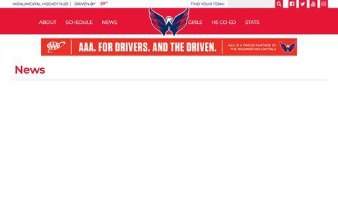 Screenshot of Press Page monumentalhockeyhub.com - News - captured Feb. 21, 2018