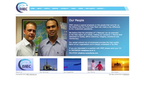 Screenshot of Team Page ime-consultants.com - Our People - captured Oct. 6, 2014
