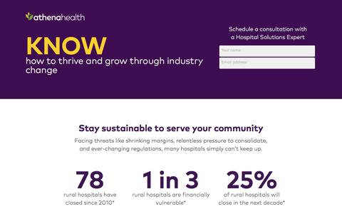 Screenshot of Landing Page athenahealth.com - how to thrive and grow through industry change | athenahealth - captured May 20, 2017