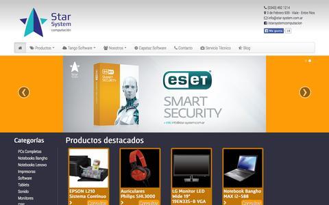 Screenshot of Home Page star-system.com.ar - Star System - captured Oct. 6, 2014