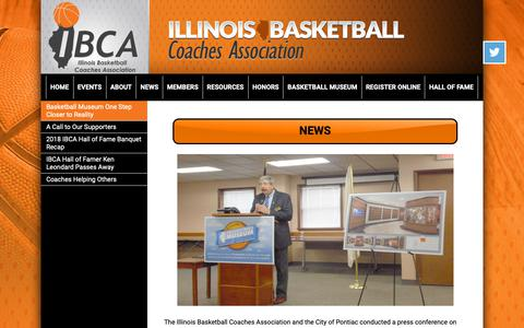 Screenshot of Press Page ibcaillinois.org - Illinois Basketball Coaches Association - captured Nov. 14, 2018