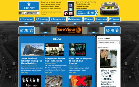 Screenshot of Blog filmnav.co.uk - FilmNav – The website highway for British film-makers | FilmNav - captured Nov. 5, 2014