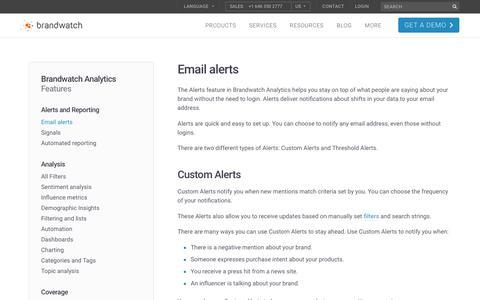 Email alerts | Brandwatch