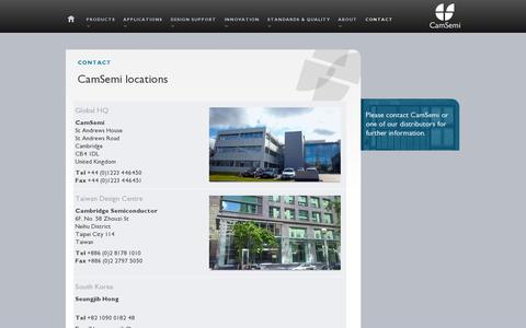 Screenshot of Contact Page camsemi.com - CamSemi | Contact - captured July 18, 2014