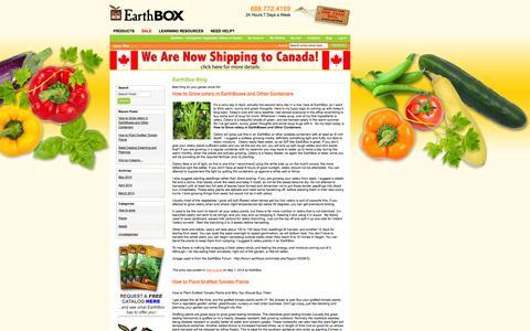 Screenshot of Blog earthbox.com - EarthBox Blog  - EarthBox - Homegrown Vegetables Without A Garden - captured Sept. 24, 2014