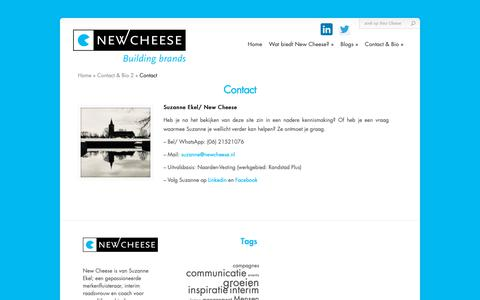 Screenshot of Contact Page newcheese.nl - Contact - New Cheese | New Cheese - captured Nov. 7, 2018