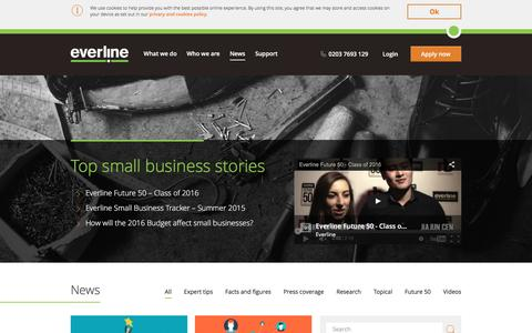 Screenshot of Press Page everline.com - Small Business News | Business Tips and Articles - captured July 16, 2016