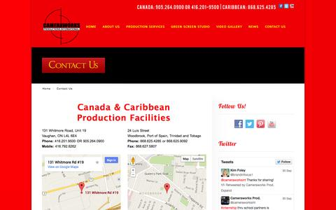 Screenshot of Contact Page cameraworksint.com - Contact Us - Cameraworks - captured Oct. 1, 2014