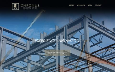 Screenshot of Home Page chronusinc.com - Orlando Construction and Building Contractor - Construction Orlando - Commercial - Multifamily - Hospitality - Healthcare - Industrial : Chronus Construction - Home - captured Sept. 29, 2014
