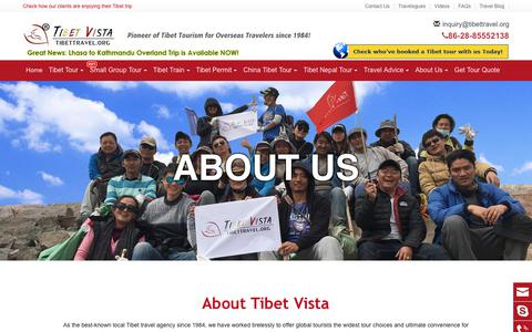 Screenshot of About Page tibettravel.org - Tibet Travel Agency: leading Tibetan Owned Tour Agency - Tibet Vista - captured Dec. 18, 2019