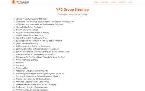 Screenshot of Site Map Page ypc-group.com - Site Map - captured May 23, 2016
