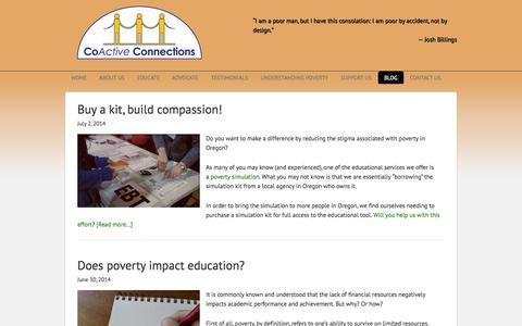 Screenshot of Blog coactiveconnections.net - Blog - CoActive Connections - captured Sept. 30, 2014