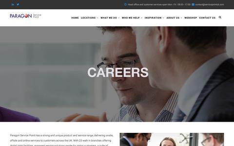 Screenshot of Jobs Page servicepointuk.com - Careers | www.servicepointuk.com - captured Nov. 5, 2017