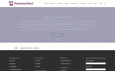 Screenshot of About Page plumsteadbond.com - About - Plumstead Bond - captured Sept. 30, 2014