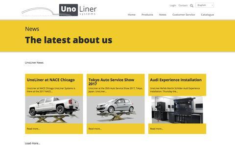 Screenshot of Press Page unoliner.com captured Oct. 19, 2017