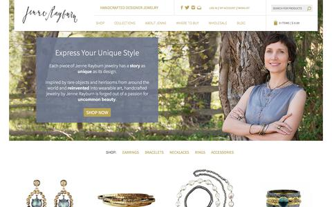 Screenshot of Home Page jennerayburn.com - Handcrafted Designer Jewelry, Made in USA | Jenne Rayburn - captured Sept. 20, 2018