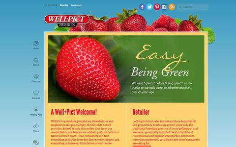 Screenshot of Home Page wellpict.com - Well Pict Berries - captured Sept. 19, 2014
