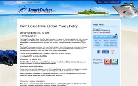 Screenshot of Privacy Page smartcruiser.com - SmartCruiser — A Discount Cruise Site featuring Discount Cruises and Cruise Deals - captured Oct. 18, 2018