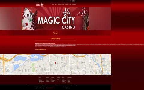 Screenshot of Jobs Page magiccitycasino.com - Magic City Casino - Careers - captured Jan. 6, 2016