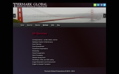 Screenshot of Services Page tiermark.biz - Services   Tiermark - captured Oct. 6, 2014