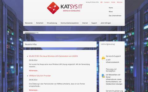 Screenshot of Home Page katsys-it.at - katsys-it.at - Home - captured Oct. 6, 2014