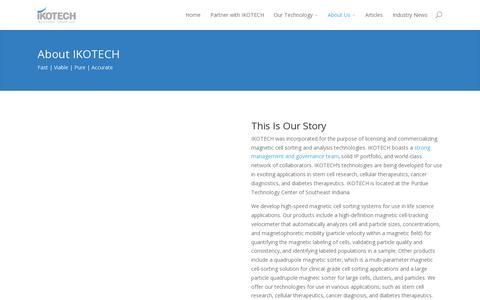 Screenshot of About Page ikotech.com - About Us | IKOTECH LLC - captured July 19, 2014