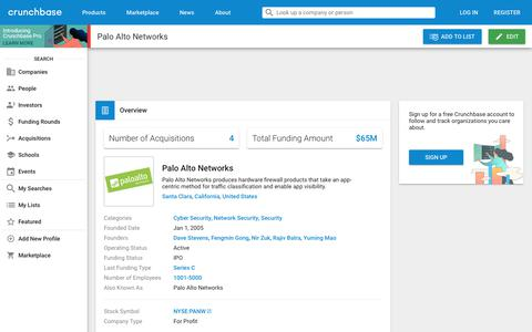 Palo Alto Networks | Crunchbase