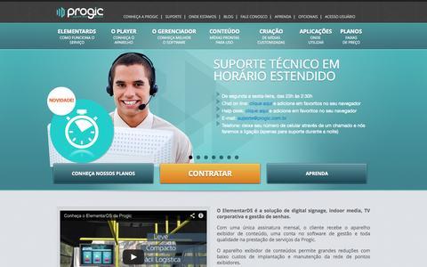 Screenshot of Home Page progic.com.br - Progic - captured Sept. 30, 2014