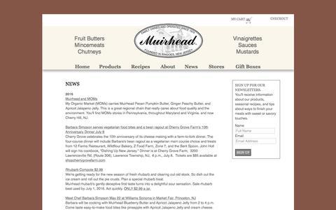 Screenshot of Press Page muirheadfoods.com - Muirhead Foods: News - captured April 10, 2017