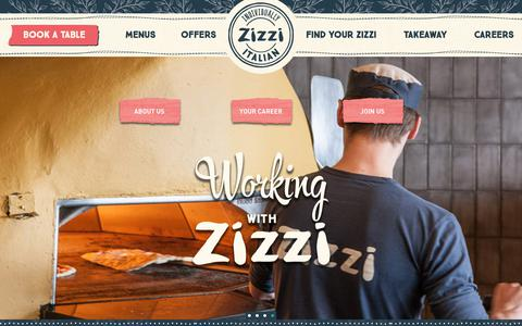 Screenshot of Jobs Page zizzi.co.uk - Careers at Zizzi | Italian Restaurants | Zizzi - captured July 26, 2018