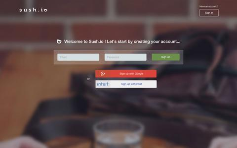 Screenshot of Signup Page sush.io - Sush.io - captured Nov. 21, 2015