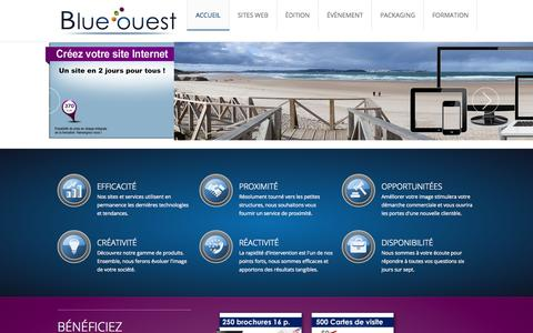 Screenshot of Home Page blueouest.fr - Accueil - captured Oct. 16, 2015
