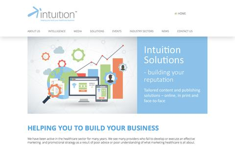 Screenshot of Home Page intuition-communication.co.uk - Private healthcare marketing: Intuition Communication - captured June 7, 2017