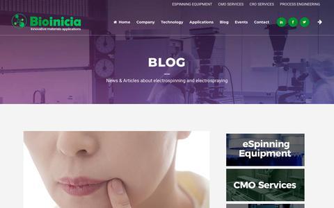 Screenshot of Blog bioinicia.com - Blog - Bioinicia - captured Oct. 5, 2018