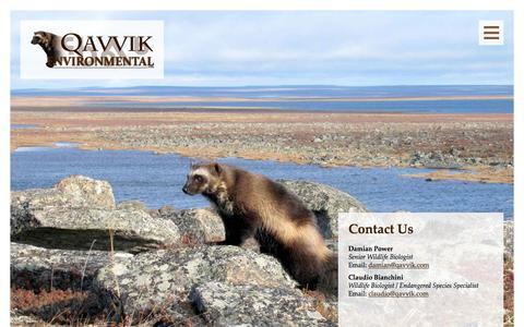 Screenshot of Contact Page qavvik.com - Contact Us - Qavvik Environmental Ltd - captured July 22, 2017