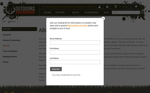 Screenshot of About Page outdoorsforless.com - Outdoors For Less: About Us - captured Nov. 18, 2018