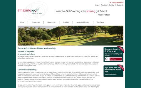Screenshot of Terms Page amazing-golf.eu - Terms & Conditions - captured Sept. 30, 2014