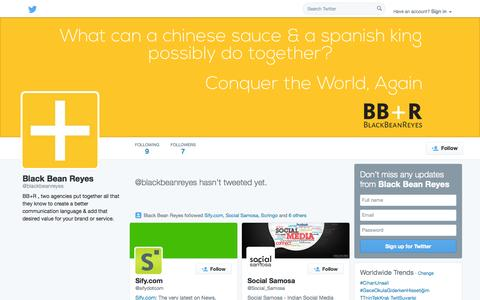 Screenshot of Twitter Page twitter.com - Black Bean Reyes (@blackbeanreyes) | Twitter - captured Oct. 23, 2014