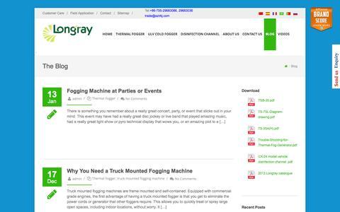 Screenshot of Blog longrayfog.com - Fogger Machine Blog | LONGRAYFOG - captured Feb. 1, 2016