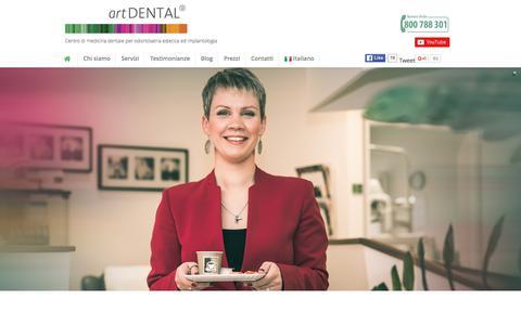 Screenshot of Home Page artdental.it - artDENTAL - dentista Fiume | Centri dentistici in Croazia - captured Dec. 28, 2015