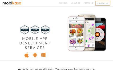 Screenshot of Services Page mobikasa.com - Mobile App Development Company, Top Mobile App Developers NYC, USA - captured Sept. 21, 2018