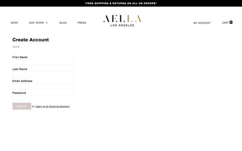 Screenshot of Signup Page aella.co - Create Account | AELLA - captured Oct. 29, 2014