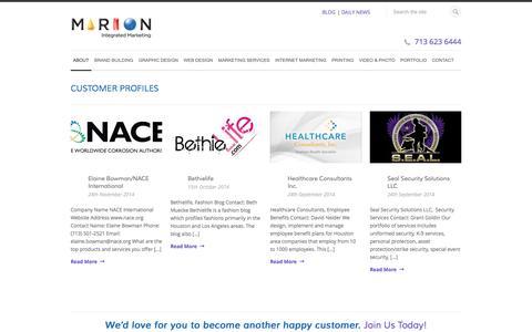 Customer Profiles - Marion Integrated Marketing Houston