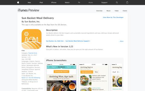 Sun Basket Meal Delivery on the App Store