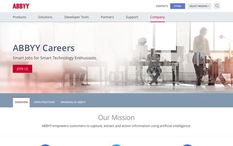 ABBYY Careers | Smart Jobs for Smart Technology Enthusiasts