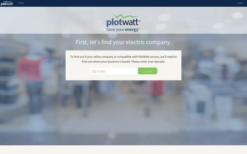 Screenshot of Signup Page plotwatt.com - PlotWatt - captured July 13, 2018