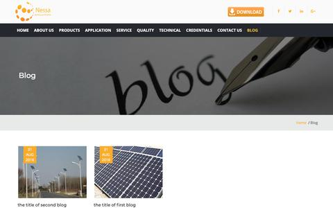 Screenshot of Blog nessa.in - Highmast LED lights | Solar Rooftop System | led tube lights - captured Oct. 19, 2018