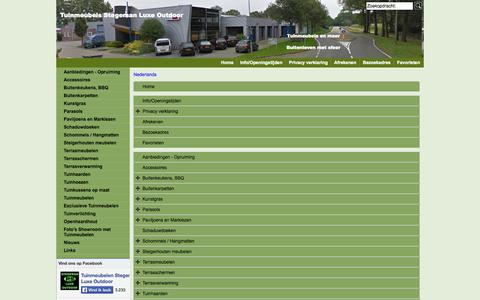 Screenshot of Site Map Page Menu Page luxeoutdoor.nl - Map - captured Oct. 26, 2014