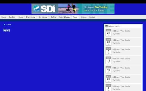 Screenshot of Press Page nodivenolife.com - News – No Dive, No Life - captured Sept. 21, 2018
