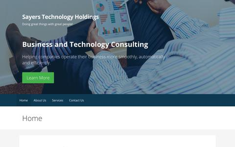 Screenshot of Home Page sayerstech.com - Sayers Technology Holdings – Doing great things with great people! - captured Oct. 5, 2017